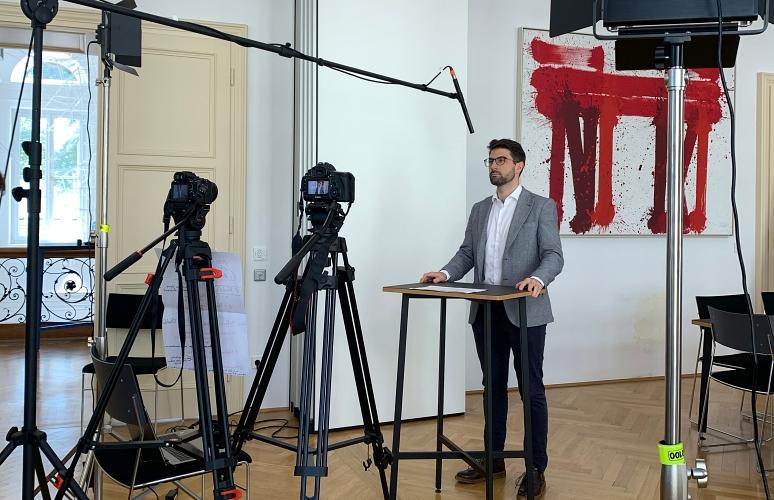 Hinter den Kulissen: Videodreh von 3 Minuten Umweltrecht 2020