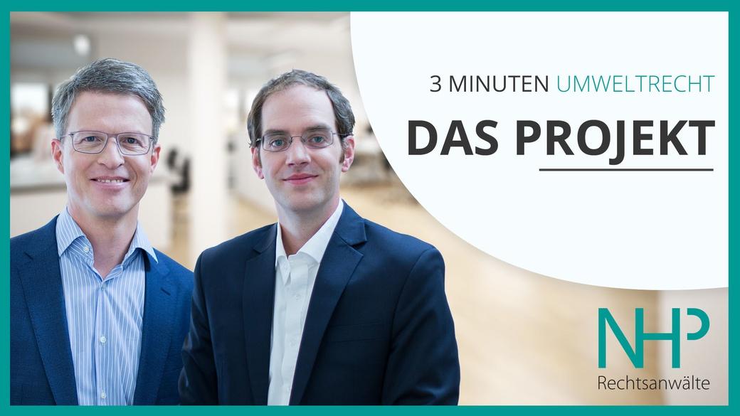 3 MINUTEN UMWELTRECHT - der neue YouTube-Kanal von NHP