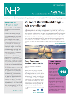 NHP News Alert September 2015 erschienen