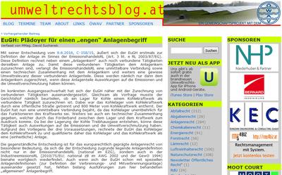 David Suchanek schreibt auf www.umweltrechtsblog.at