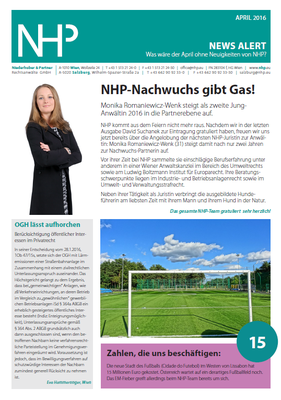 NHP News Alert April 2016 erschienen