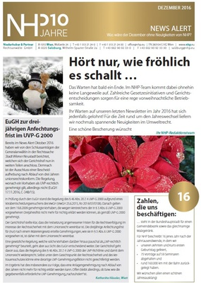 NHP News Alert Dezember 2016