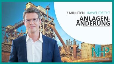 """3 MINUTEN UMWELTRECHT: """"5 Tipps zur richtigen Anlagenänderung"""", Mag. Martin Niederhuber"""