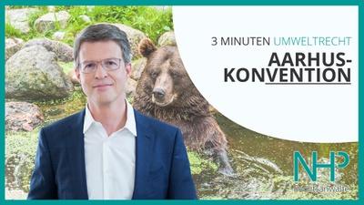 "3 MINUTEN UMWELTRECHT: ""Aarhus Konvention"", Mag. Martin Niederhuber"
