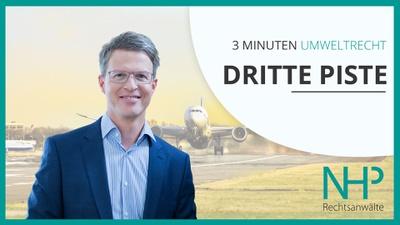 "3 MINUTEN UMWELTRECHT: ""Dritte Piste Flughafen Wien"", Mag. Martin Niederhuber"