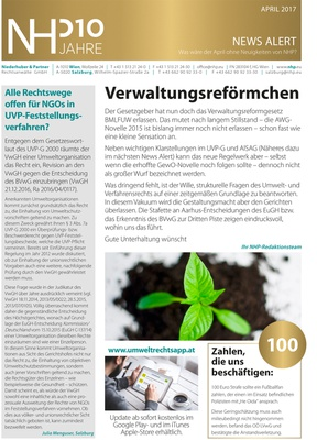 NHP News Alert April 2017 erschienen