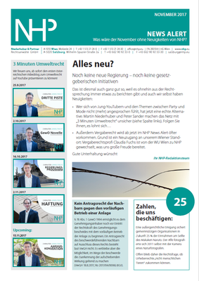 NHP News Alert November 2017 erschienen
