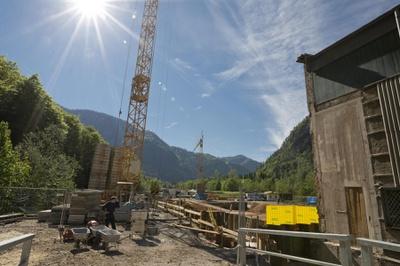 Baustelle KW Dießbach © Salzburg AG