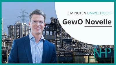 """3 MINUTEN UMWELTRECHT: """"GewO-Novelle Betriebsanlagen"""" , Mag. Martin Niederhuber"""