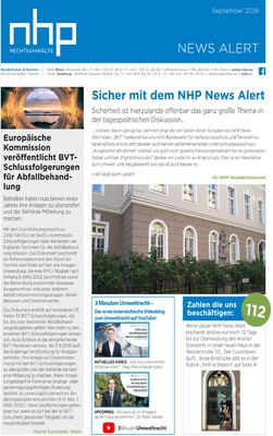 NHP News Alert September 2018 erschienen