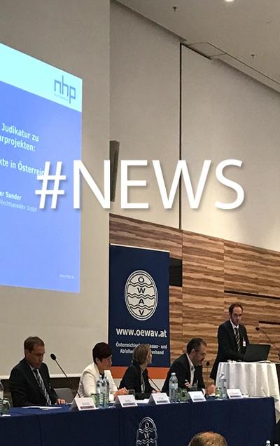 NHP-Partner Peter Sander analysiert Rechtsprechung auf Infrastruktur-Tagung des Österreichischen Wasser- und Abfallwirtschaftsverbandes