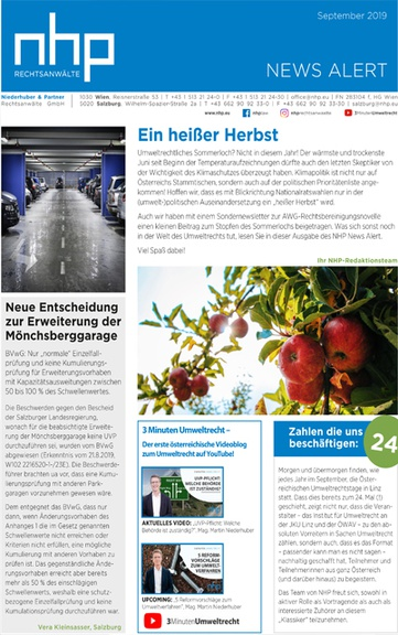 NHP News Alert September 2019 erschienen