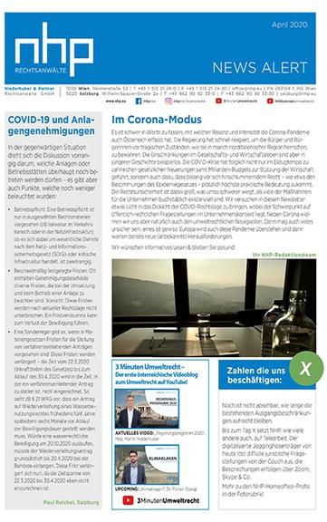 NHP NEWS ALERT APRIL 2020 MIT COVID-19 SPEZIAL ERSCHIENEN