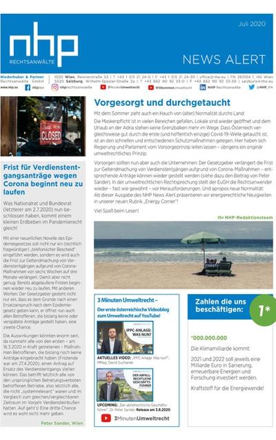 NHP NEWS ALERT JULI 2020 ERSCHIENEN