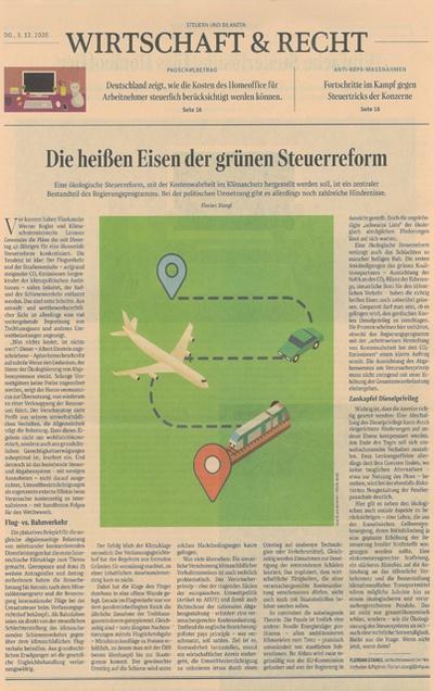 """""""Die heißen Eisen der grünen Steuerreform"""" - Gastbeitrag von NHP-Rechtsanwalt Florian Stangl im STANDARD"""