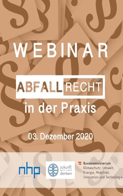 WEBINAR: Abfallrecht für die Praxis am 3.12.2020