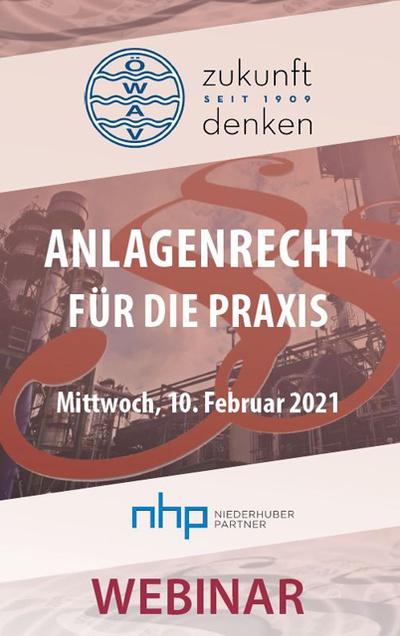 WEBINAR: Anlagenrecht für die Praxis am 10.2.2021